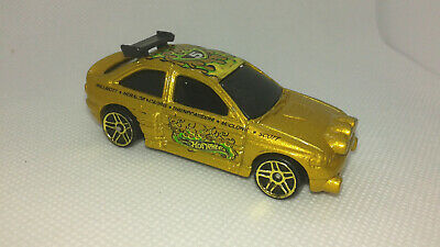 voiture ford escort gold rally course fast furious hotwheels 1/64 new Hot Wheels