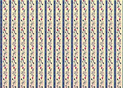 1//12th Scale Peppa Pig Blue Dolls House Wallpaper 180gsm Matte Photo Paper