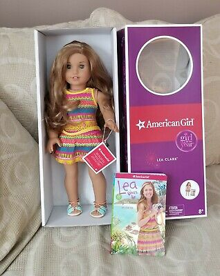 American Girl LEA Doll of the Year 2016 Doll and Book BAG Necklace RETIRED
