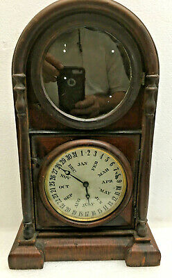 Antique 1875 Welch Spring & Co .Italian No.3 Calendar Clock