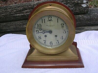 "Chelsea ""Commander"" Ball Watch Co. Cleveland Antique Clock No Reserve"