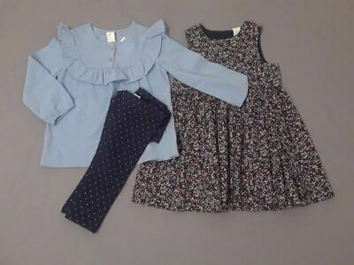 NWT H&M girls size 2-3 years chambray top legging dress lot Spring Easter 2t 3t