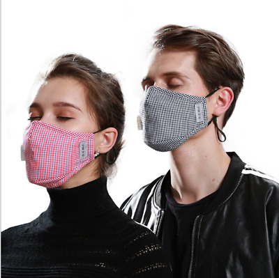 PM2.5 Couple Mask Anti Air Pollution With Respirator 2 Filters Reusable Washable