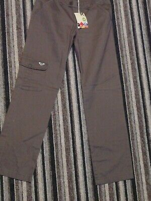 Bnwt Roxy Brown Cotton Cargo Trousers Age 14 Years