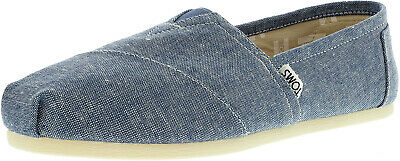 Toms Women's Classic Slub Chambray Ankle-High Canvas Slip-On Shoes