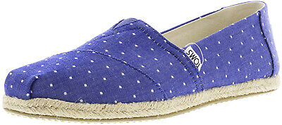 Toms Women's Classic Chambray Rope Sole Ankle-High Canvas Slip-On Shoes