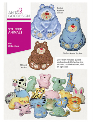 Anita Goodesign Machine Embroidery Patterns - Stuffed Animals