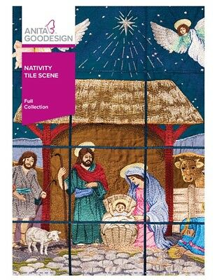 Anita Goodesign Machine Embroidery Pattern - Nativity Scene