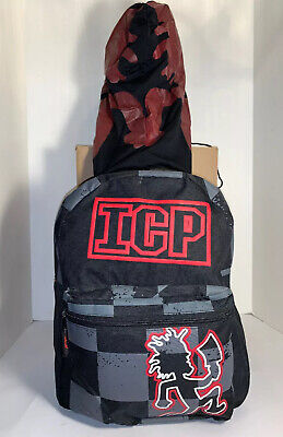 Insane Clown Posse Hatchet Man Backpack ICP Psychopathic W/ Hidden Hoodie *RARE*