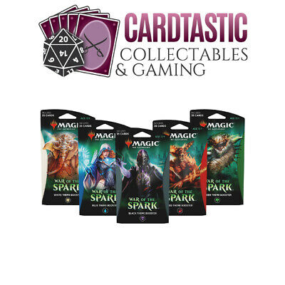 Magic the Gathering TCG War of the Spark Theme Booster Set of 5