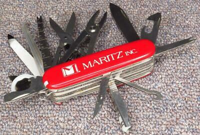 Victorinox PLAIN RED SwissChamp Swiss Army Knife, GOOD to VERY GOOD Condition