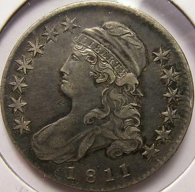 1811 Capped Bust Half Dollar Lettered Edge *Old Silver Coin*