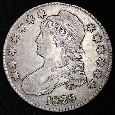 1829 Capped Bust Half Dollar CHOICE XF FREE SHIPPING E277 AFM