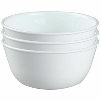CORELLE~ Lot of 5 ~  WINTER FROST WHITE 28 oz Super Chili/Soup/Cereal Bowls