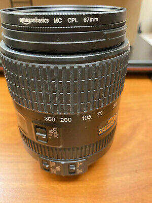 NIKON NIKKOR AF-S 18-300mm 3.5-6.3 VR ED LENS  GREAT CONDITION Comes W FILTER