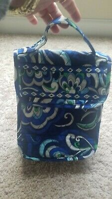 VERA BRADLEY Lunch Tote Bag or Baby Bottle Keeper in Mediterranean Blue Pattern