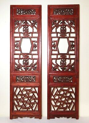 Antique Chinese Screen Panels (2979)(Pair); Cunninghamia Wood, Circa 1800-1849