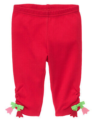 NWT Gymboree Too Cute Tulip Flower Bow Leggings 6-12 Months Baby Girl