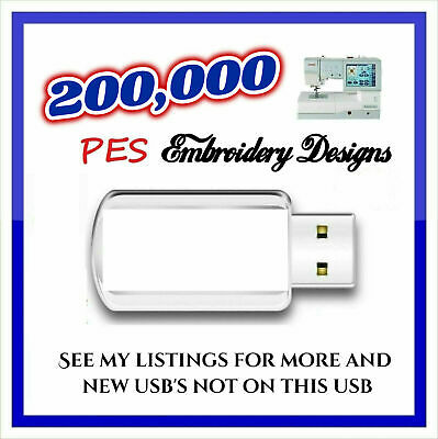 500k Embroidery Designs PES on a USB STICK Disney PES Designs JEF Designs HUS