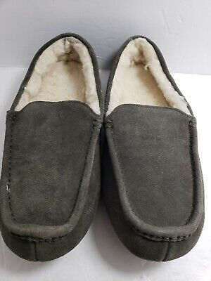 Amazon Essentials Suede Fuzzy Moccasin Slippers Brown Size 9