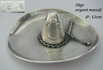 58gr sombrero mexique mexico BAGUIER Argent MASSIF sterling 925 solid silver