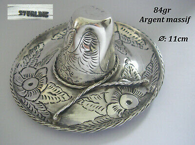 84gr sombrero mexique mexico BAGUIER Argent MASSIF sterling 925 solid silver