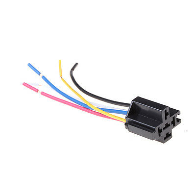 1Pcs 5 Pin Cable Relay Socket Harness Connector DC 12V for Car  FT