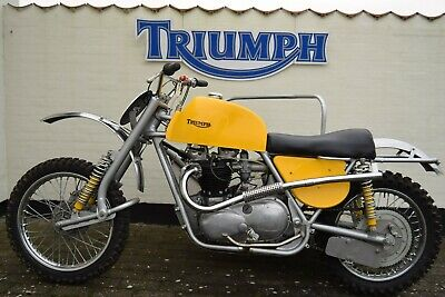 Triumph Wasp motocross outfit . 650 6T twin carb engine