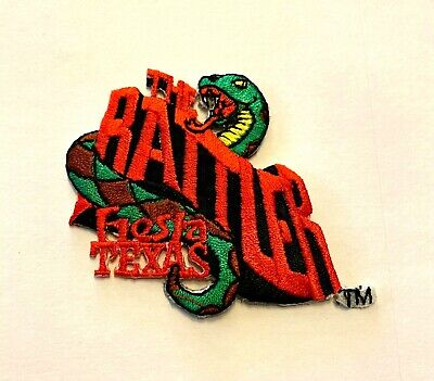 """NEW RARE Six Flags The Rattler Roller Coaster Fiesta Texas Iron On Patch 2"""" x 2"""""""