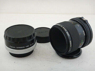 Canon 50mm f3.5 FD + EXTENSION Tube FD 25 Excellent Condition F1 Made in Japan