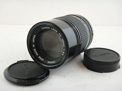 Canon 135mm f3.5 FD + LENS HOOD Paraluce Excellent Condition F1 Made in Japan