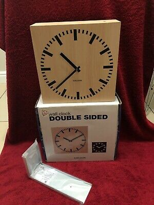 Double Sided Wall Clock By Karlsson. Boxed Fully Working