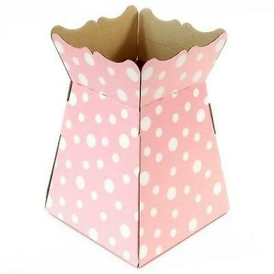 Baby Pink Polka - Living Vase -  Dot Spot Florist Bouquet Box Flower Sweet Boxes