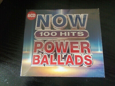 NOW 100 HITS  POWER BALLADS  (6 CD Album) New and Sealed