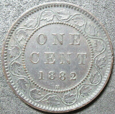 1882-H Canada Cent Coin