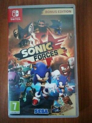 SONIC FORCES BONUS EDITION - (DLC Included) - Nintendo Switch - MINT CONDITION!
