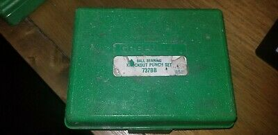 Greenlee Knockout Punch Hand Tool Set 737/737BB