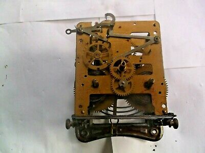 MECHANISM  FROM AN OLD  WALL CLOCK WORKING ORDER  ref TB1