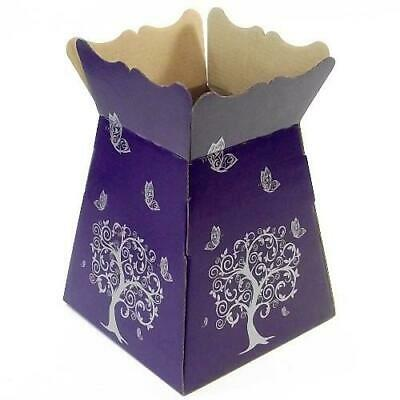 Purple -Tree Butterfly - Living Vase - Florist Bouquet Box Flower Sweet Boxes