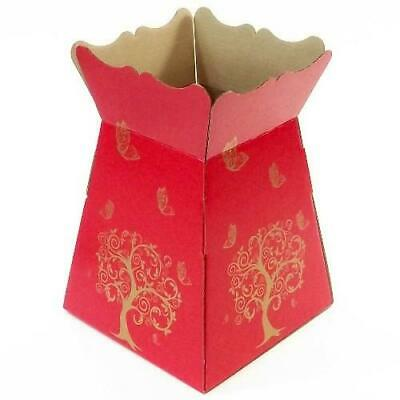 Red -Tree Butterfly - Living Vase - Florist Bouquet Box Flower Sweet Boxes