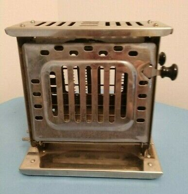 Antique Bersted Art Deco Double-Sided Flip Toaster Works Power Cord