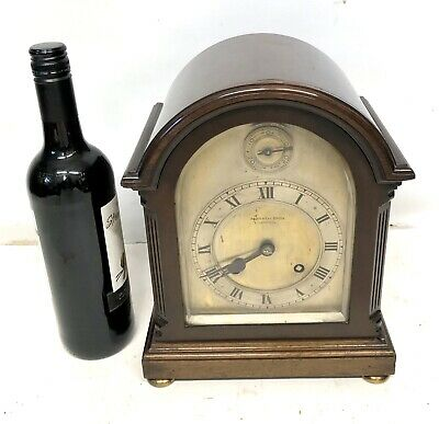 Antique Mahogany JJ ELLIOTT Bracket Clock retailed MORATH BROS LIVERPOOL