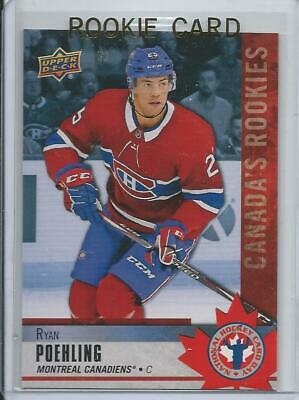2019-20 Upper Deck Ryan Poehling Rookie Card RC #3 National Hockey Card Day