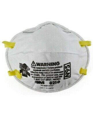 3M 8210 N95 mask Particulate Respirator With Valve Pack of 5