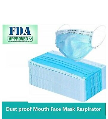 Bulk 20,000 PCS Disposable Face Mask Surgical Medical Dental Industrial 3-Ply
