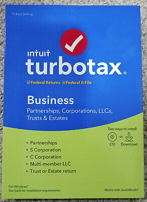 TurboTax Business 2019 Tax Software [PC CD] Used 1 of 5 product activation