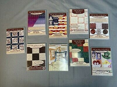 ANITA GOODESIGN  COLLECTION Machine Embroidery Mix & Match Quilting-LOT OF 9 CDs