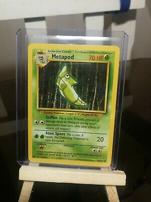 metapod carte pokemon base set edition anglaise 54/102  1999 wizards