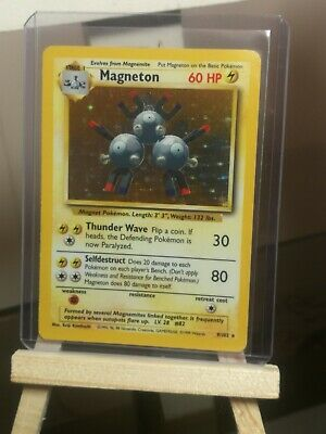 magneton carte pokemon base set edition anglaise 9/102  1999 wizards