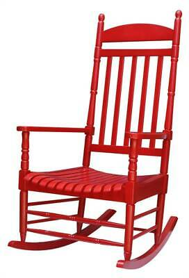 Outdoor Wooden Porch Rocker in Red [ID 3934518]
